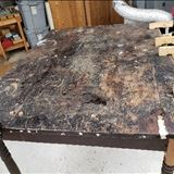 Photo 1: This table had been held in storage at the Dearborn Historical Museum for many years because of its condition.